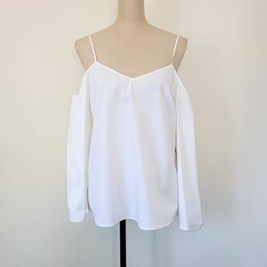 1.State white cold shoulder blouse M